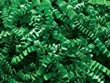 Pack of 1, Green Crinkle Cut Paper Shred 40 Lb Spring-Fill Shred for Baskets, Basket Boxes, Bags, Containers & Nested Boxes