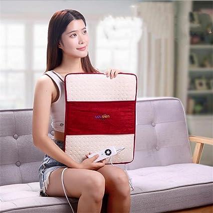 FFJTS Cojines almohadillas de calefacción pequeña manta eléctrica oficina calefacción almohadilla de la silla rodilleras calientes