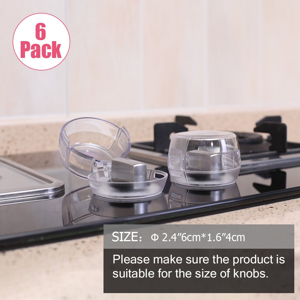 Eudemon Clear 6pack Safety Children Kitchen Stove Gas Knob Covers (6 Pack, Transparent) Ltd. 001YM03B951100