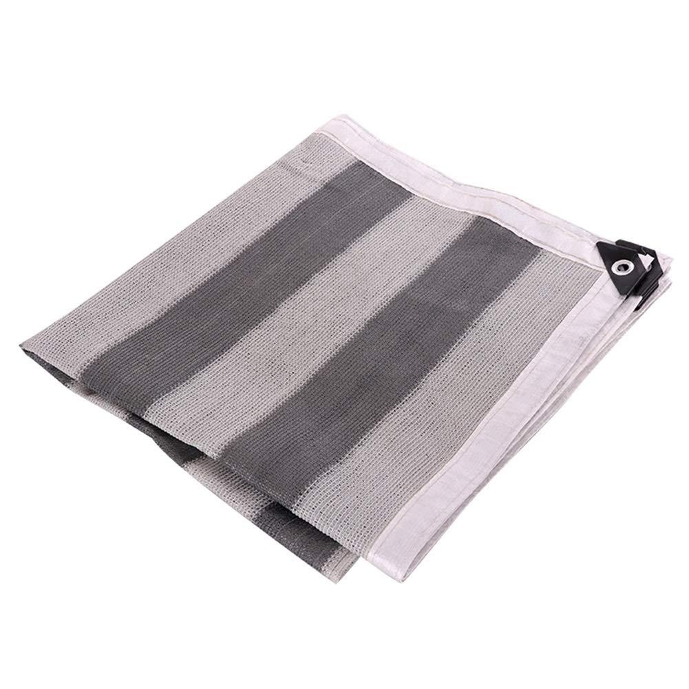 ZHANWEI オーニング シェード遮光ネット バルコニー 日焼け止め 通気性 保湿 6ステッチ - グレー、 カスタマイズ可能なサイズ (色 : Brown+White, サイズ さいず : 3x8m) 3x8m Brown+White B07Q37CDMJ