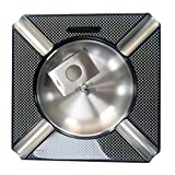 OYHBO Cigar Ashtray Carbon Fiber High Glossy Finish