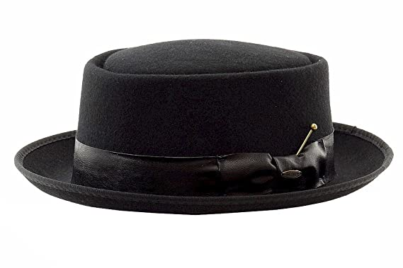 c22d10ad903 Scala Classico Men s Fashion Black Crushable Wool Hat