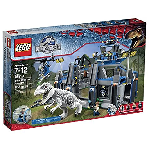 LEGO Jurassic World Indominus Rex Breakout 75919 Building Kit - Jaw Snapping T-rex Dinosaur Toy