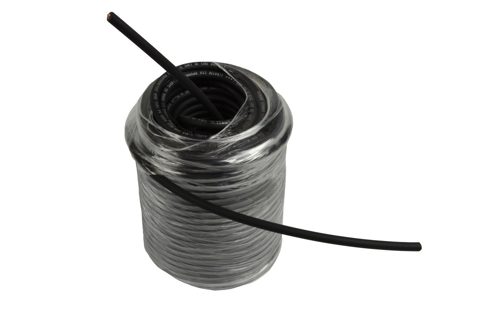 Temco 10 AWG Solar Panel Wire 500' Power Cable Black UL 4703 Copper Made in USA PV Gauge by Temco