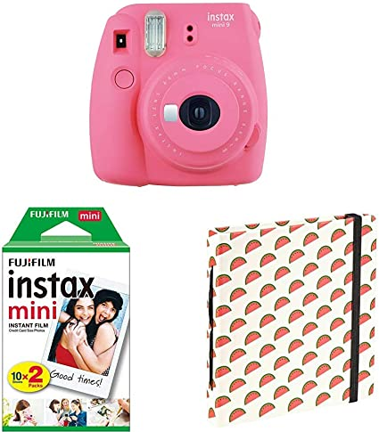 Fujifilm Instax Mini 9 Flamingo Rosa Doppelpackung 2x Kamera