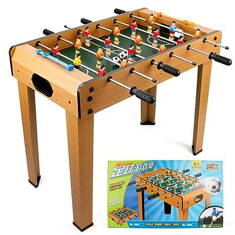 HHtoy Juego de mesa de futbolín de fútbol de madera maciza ...