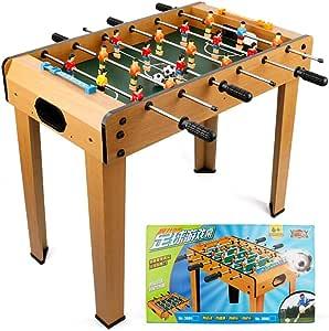 HHtoy Juego de mesa de futbolín de fútbol de madera maciza, futbolín, mesas de fútbol, juego de fútbol for fiestas, juego de juguetes con marco de madera for niños, juego familiar y
