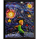 Uhomate The Little Prince Fox Le Petit Prince Little Prince Vincent Van Gogh Starry Night Posters Home Canvas Wall Art Anniversary Gifts Baby Gift Nursery Decor Living Room Wall Decor A021 (8X10)