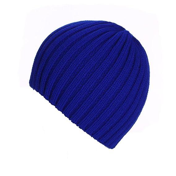 3f616bd3e993f4 Amlaiworld Strickmützen, Unisex warm Knit ski Baggy Cap Winter Hat (Blau)