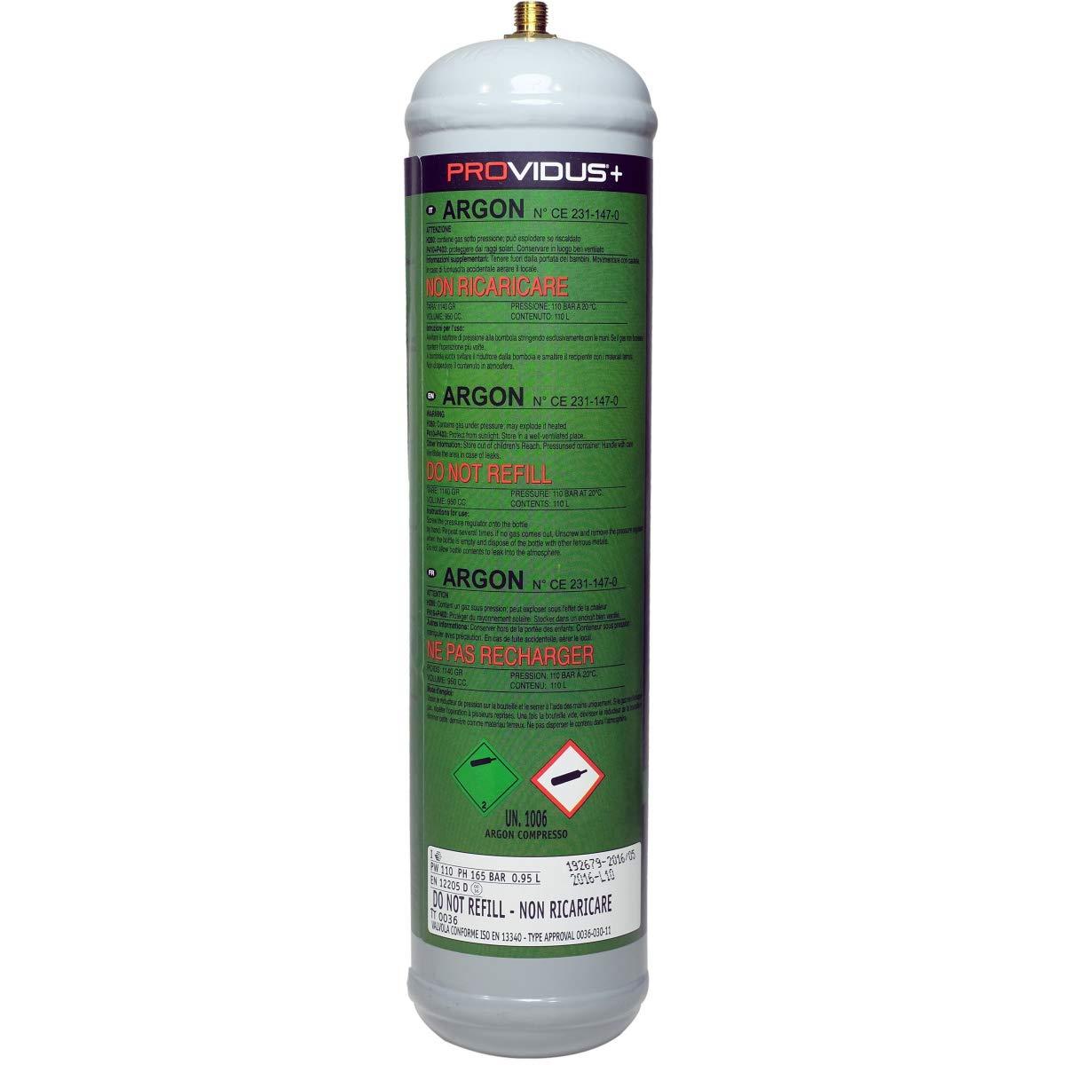 Botella de Gas Argon 110 B - Cartucho de gas para soldadura semiautomático mig-bonbonne de gas Gran Capacidad desechable: Amazon.es: Jardín