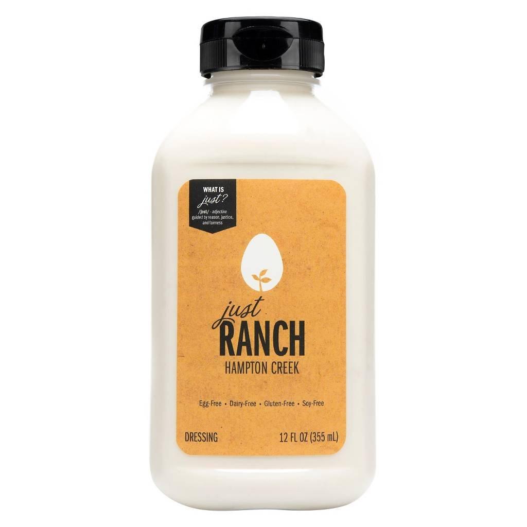 Hampton Creek Just Ranch Salad Dressing | Vegan | Non GMO | Egg Free | Gluten Free | 12 Oz | Pack 1