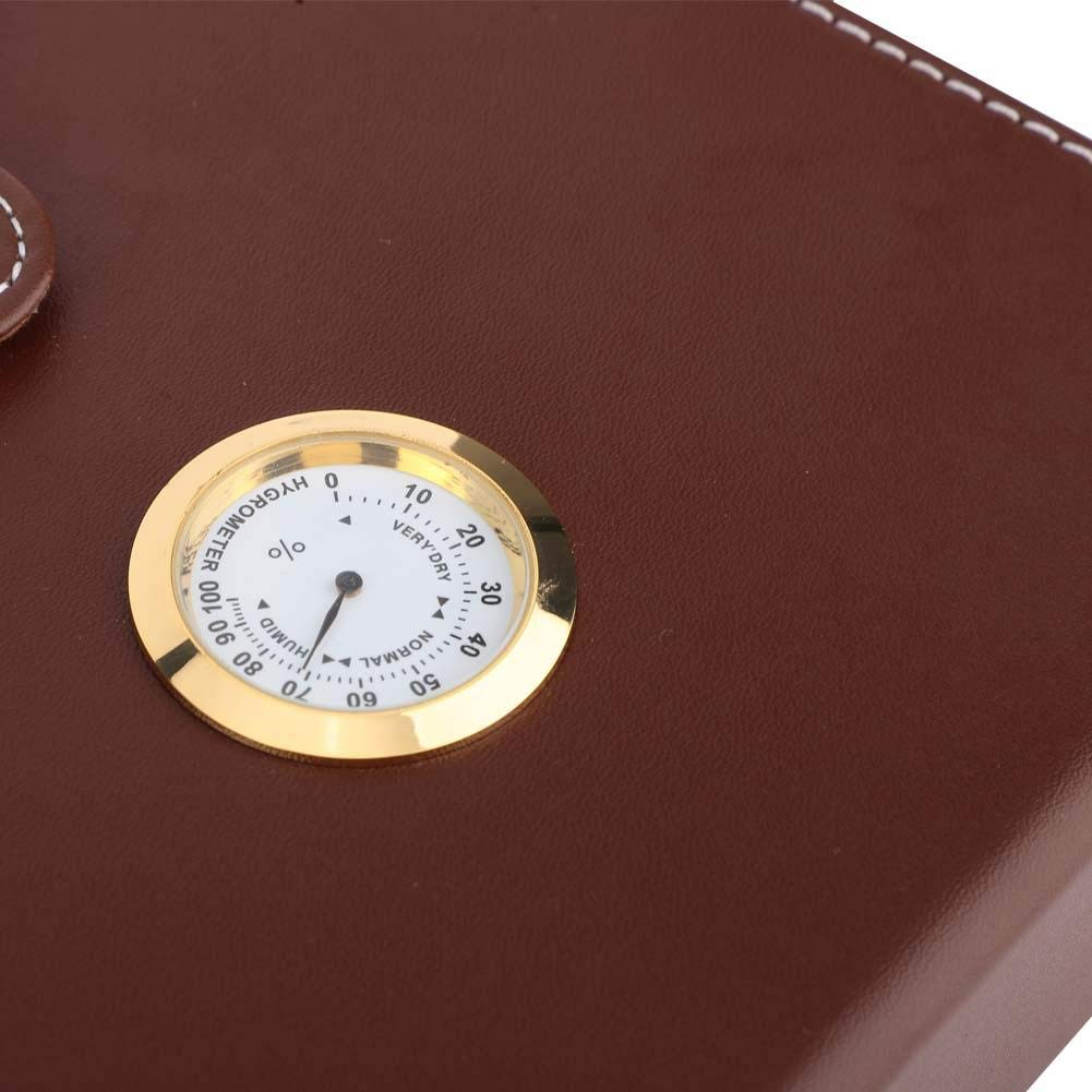 10-15pcs Easy to Carry with humidifier Hakeeta Cedar Cigar Humidor hygrometer 3 Colors Quality Leather Cigar Box Dark Brown for Travel Mini Portable portable