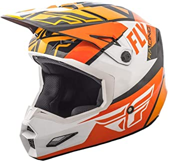 FLy Racing Elite Guild Motocross - Casco Infantil 2018, Color Naranja y Blanco Schwarz,