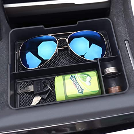 For Tesla Model 3 Center Console Tray Storage Box Coin Sunglass Holder Organizer