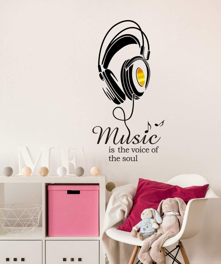 Sign Wall Sticker Office Livingroom Kid Baby Nursery Room Decoration Wall Art Vinyl Decals Stickers Quotes and Sayings Decor,14.6x28.3 Inch,Black Mix Decor Letter Wall Decal Gold