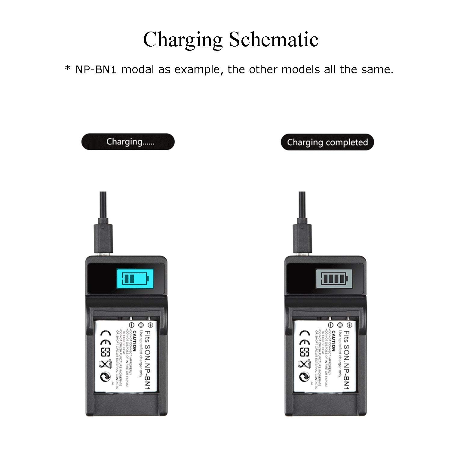 Portable USB Battery Charger for Casio Exilim EX-S5 EX-S6 EX-S7 EX-S8 EX-S9 Digital Camera