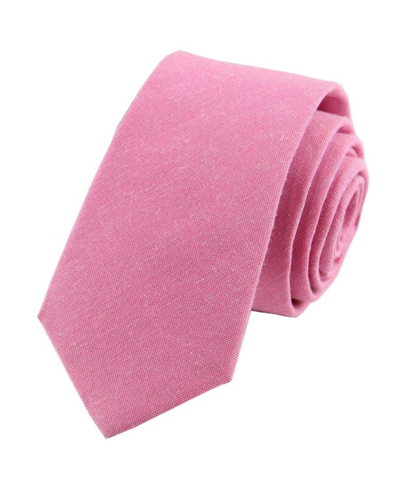 Men's Summer Cotton Tie in Confetti Candy Pink Wedding Necktie for Bridal Party