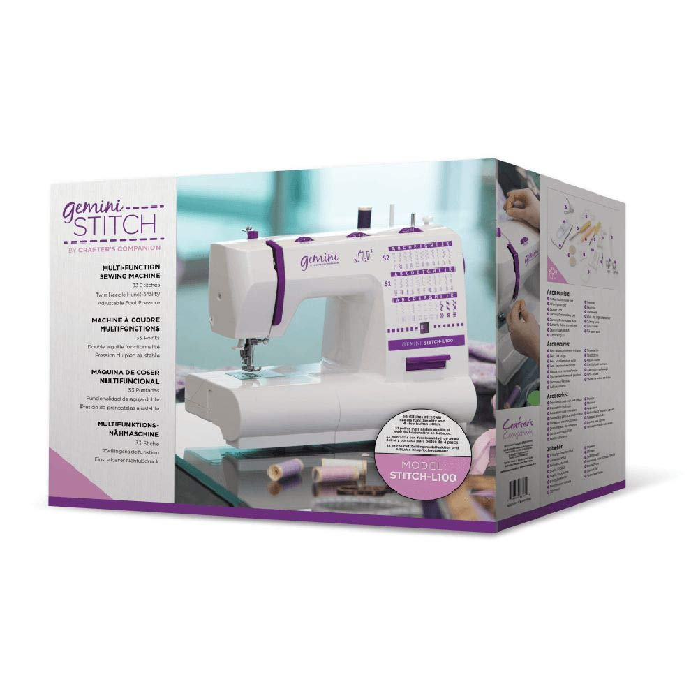 Fabric Crafter/'s Companion Gemini Stitch L100 Multi-Function UK Sewing Machine