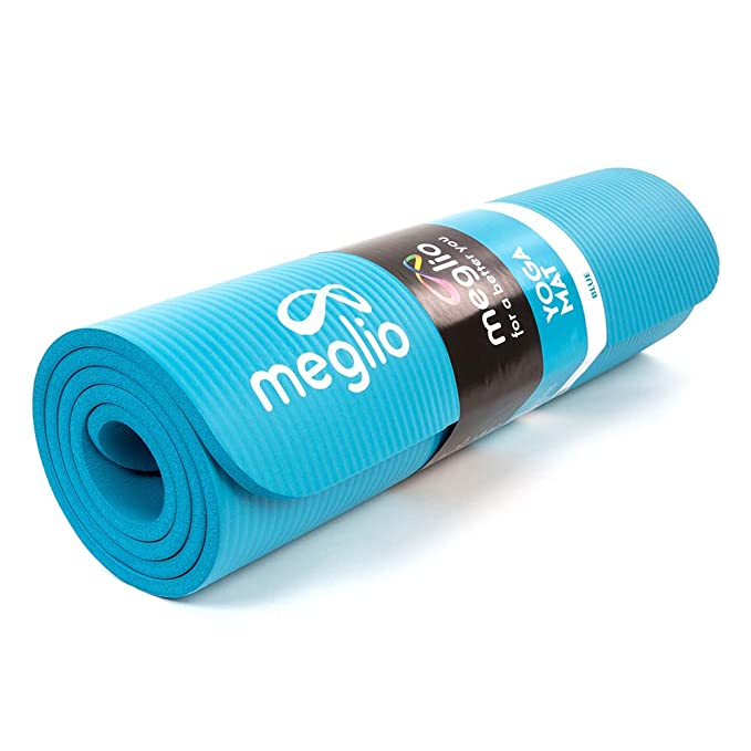 Meglio Esterilla de Yoga Antideslizante - Esterilla en NBR 12mm de Grosor - para Todo Tipo de Ejercicio, Fitness, Yoga, Pilates, Rutinas de Ejercicios ...