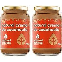 Crema de cacahuete -Natural Athlete- 100% solo cacahuetes - 100% natural, sin azúcar añadido. Pack 2x500gr