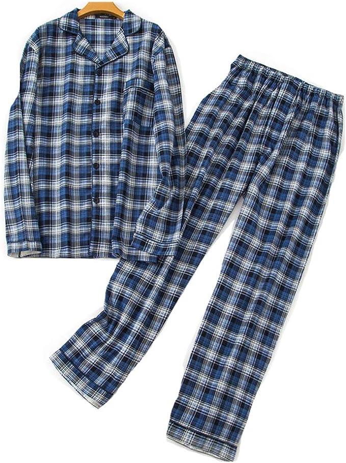 Pijamas Hombre Invierno Algodon 2 Piezas Calentito Pijama Hombre Otoño Algodón, Suave, Cómodo: Amazon.es: Ropa y accesorios