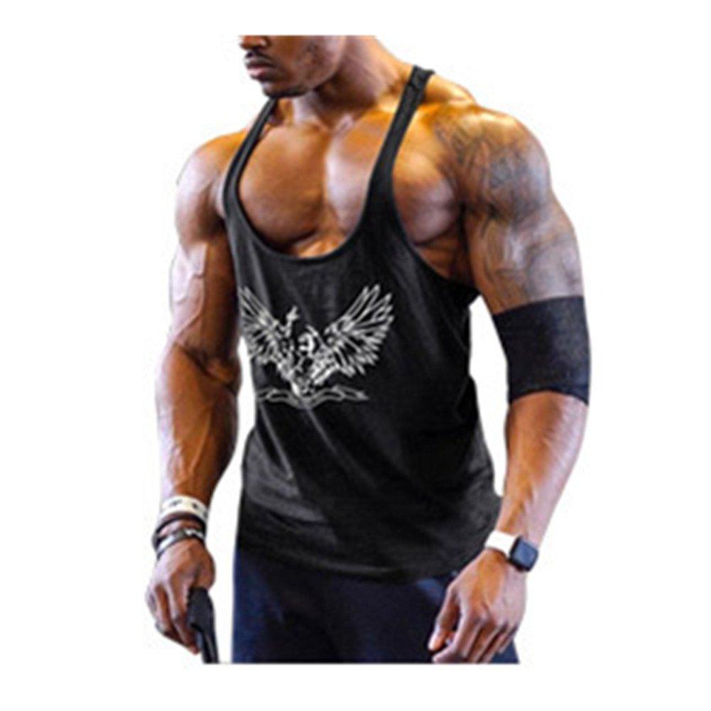DOTBUY Camisetas de Tirantes Hombres Sin Mangas Casual Deportivo Muscular Verano Camisetas Sin Mangas Algod/ón Entrenamiento Gimnasio Tank Tops