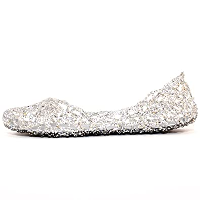 6042a9a86df129 TRENDSup Collection Women s Bird Nest Layered Lines Jelly Flat Sandals (5