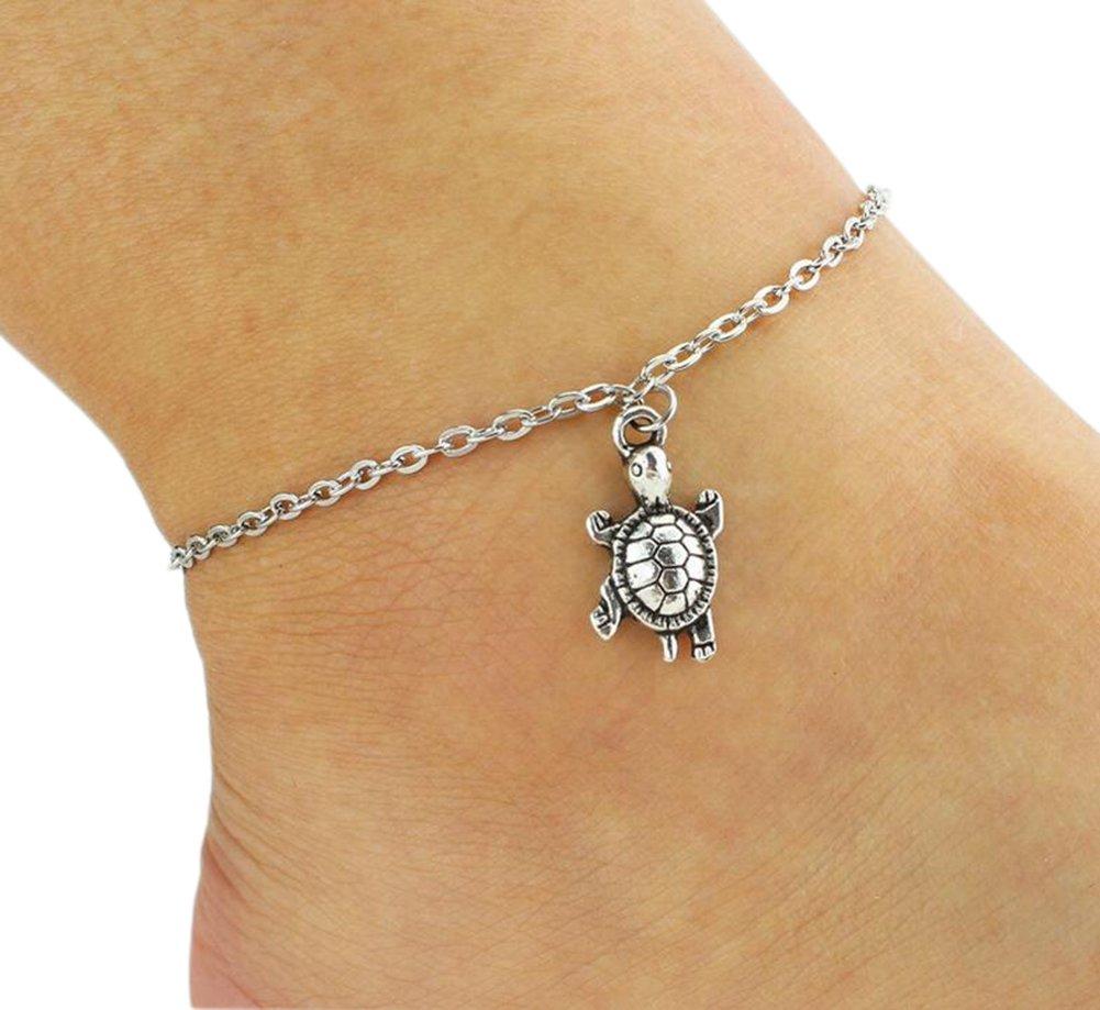 Fablcrew Anklet Cute Animal Turtle Bracelet Foot Chain For Women Girls Wedding Party Beach Jewellery
