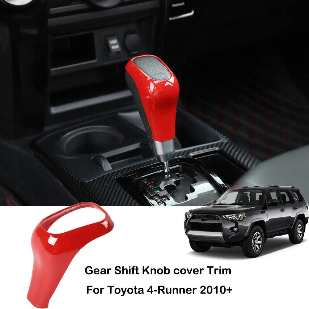Red Gear Lever Shift Shifter Knob Cover Trim for Toyota 4runner TRD 2010-2019