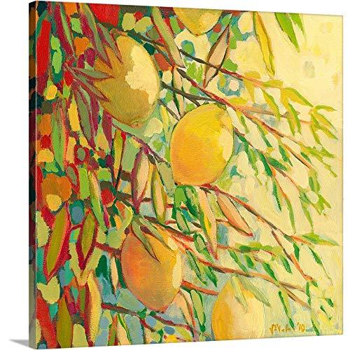 Four Lemons Canvas Wall Art Print, -