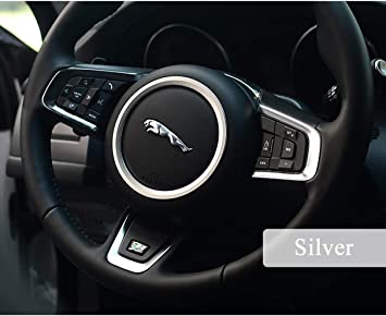 ABS Inner Steering Wheel Sequins Cover Trim For Jaguar F-Pace XE XF