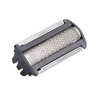 Replacement Shaver Foil/Shaver Replacement Head compatible with Philips Norelco Bodygroom BG2020 BG2030 BG2026 BG2028 BG2038 BG2040 TT2000 (including 1 cleaning brush as gift) (Set Of 1 Heads, Black)