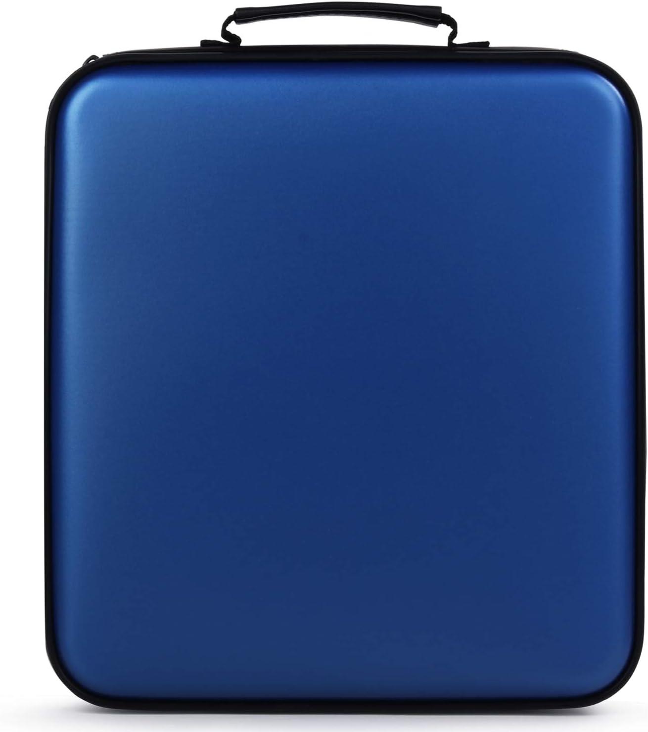Fanspack Porta CD Estuche CD DVD de 160 Disco DVD Bolsas Almacenamiento Disco Duro portátil (Azul): Amazon.es: Electrónica