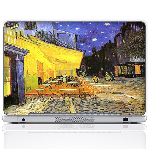 - Meffort Inc 15 15.6 Inch Laptop Notebook Skin Sticker Cover Art Decal (Free wrist pad) - Vincent van Gogh Cafe Terrace at Night