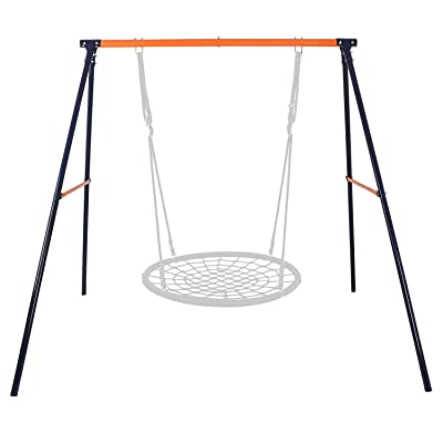 "BBBuy Heavy Duty All-Steel A-Frame Set Swing Stand 72"" Height 87"" Length 220 Lbs Weight Capacity, Fits for Most Swings, Fun for Kids Toddlers in Playground, Backyard: Toys & Games"