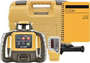 Topcon RL-H5A Self Leveling Horizontal Rotary Laser with Bonus EDEN Field Book| IP66 Rating Drop, Dust, Water Resistant| 800m Construction Laser| Includes LS-80L Receiver, Detector Holder, Hard Case