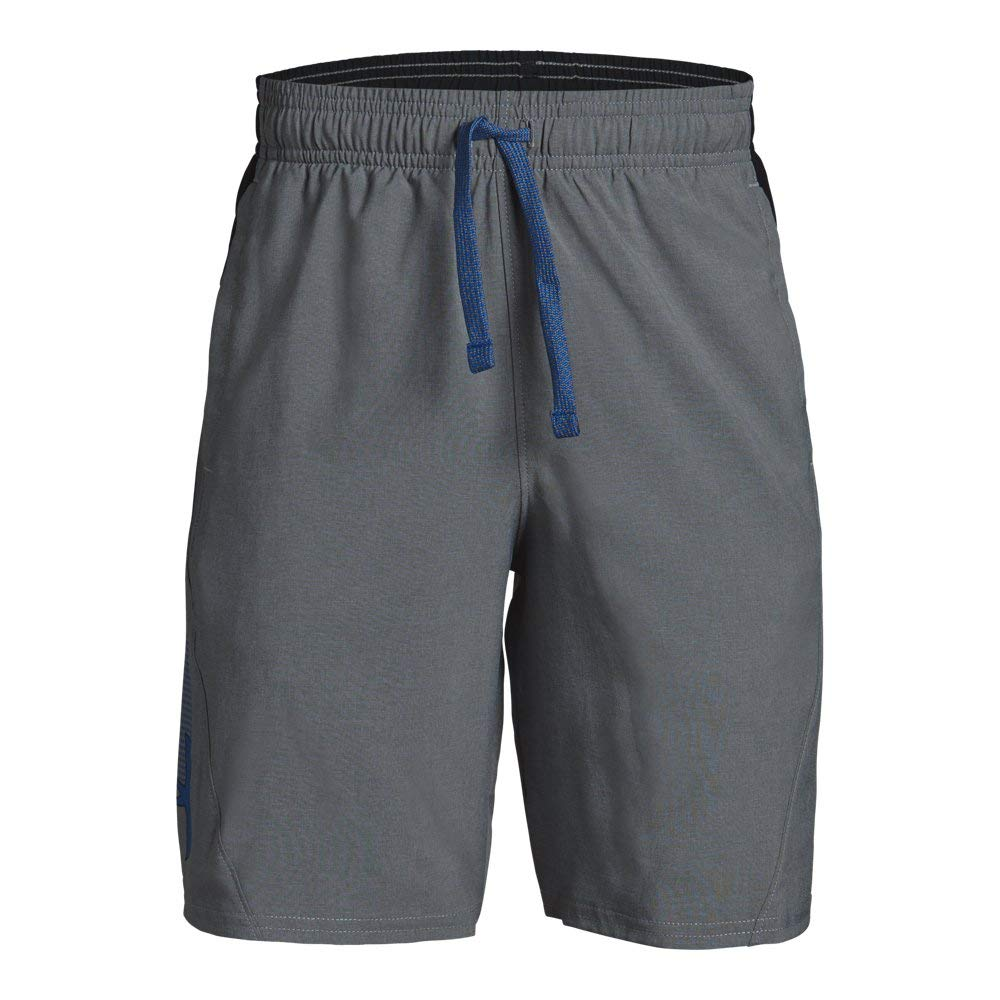 Under Armour Boys' Evolve Woven Short, Graphite Light Heath (040)/Royal, Youth X-Large