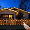 LED Rope Lights, Malivent 33FT 136 LED Christmas Rope Lights Indoor Outdoor with Remote,8 Modes/Timer, Waterproof, Low Voltage Fairy Light for Holiday Garden Patio Party Decoration(Warm White)