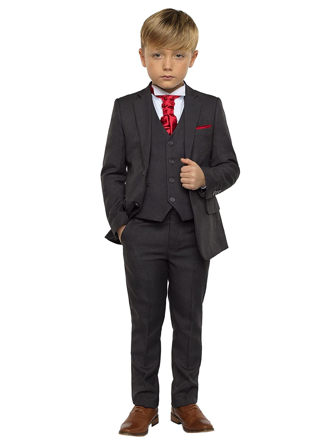 Paisley of London Boys Dark Grey Suit, Page boy Suits, Boys Wedding Suits, 12-18 Months - 13 Years