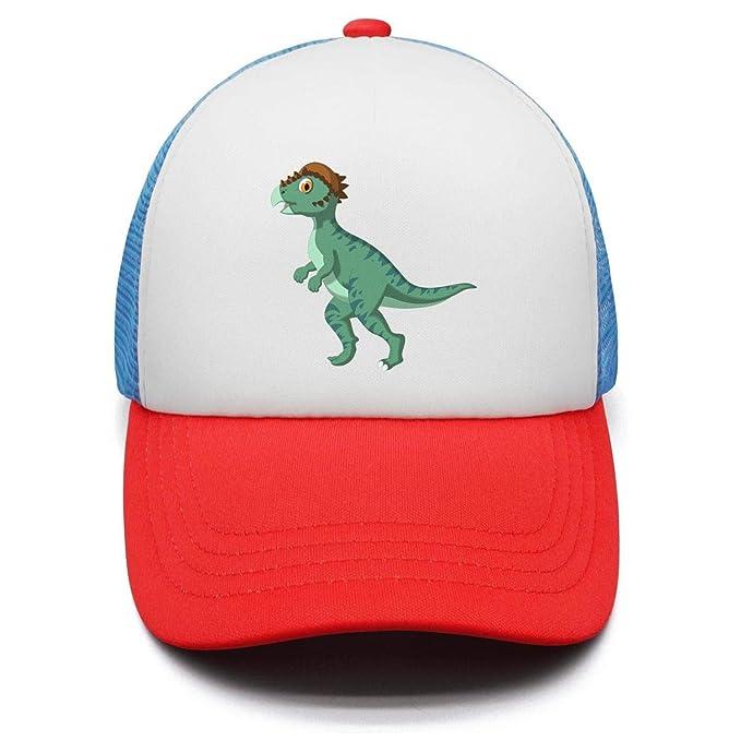 298f4716f81 Dinosaur Toys Teens Adjustable Snapback Hats for Kids Airy Mesh Sun Hat