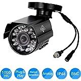 Hiseeu HD 1000 TVL 24PCS IR LEDS Surveillance MINI CCTV Camera 3.6mm Lens with IR CUT Bullet Outdoor Security Camera, Aluminum Metal Housing, Surveillance Camera for Home