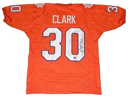 pretty nice 0de95 0b9e1 Signed Dwight Clark Jersey - Clemson Tigers #30 Orange Gtsm ...