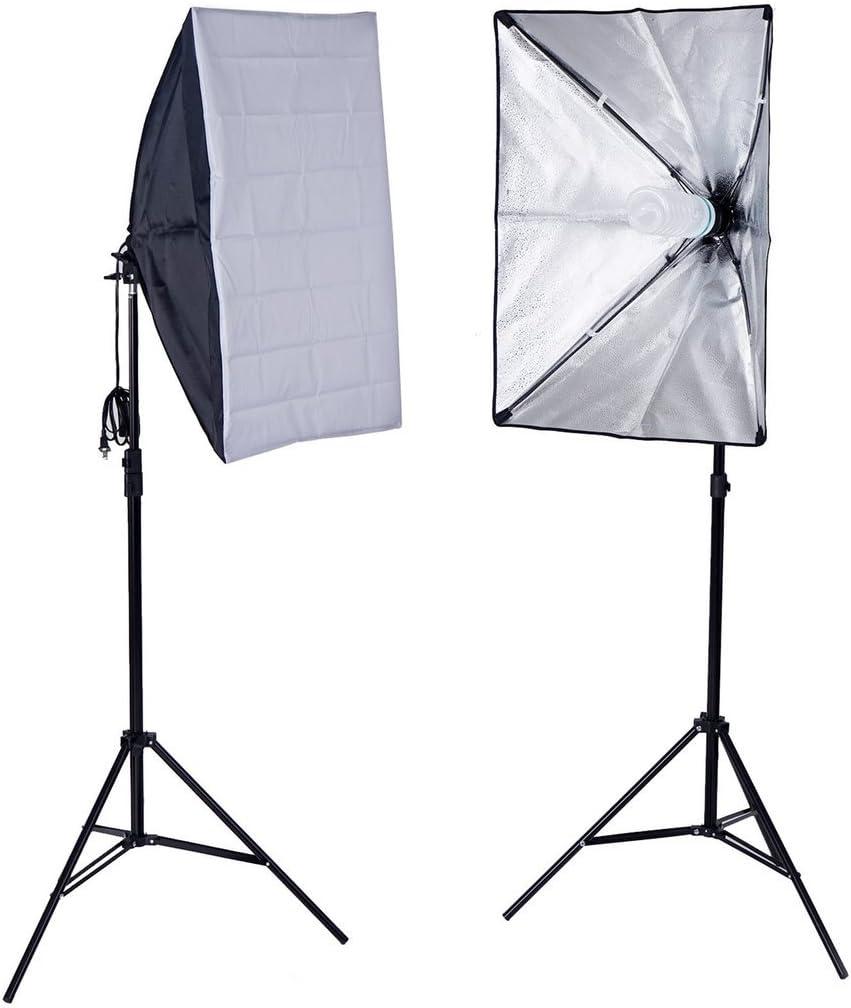 Portarit Photo Shooting Production Equipment BalsaCircle Photography Video Studio Umbrella Lighting Kit with Backdrops and Softbox