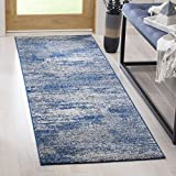 Cheap Safavieh Evoke Collection EVK272A Modern Abstract Navy and Ivory Area Rug (11′ x 15′)