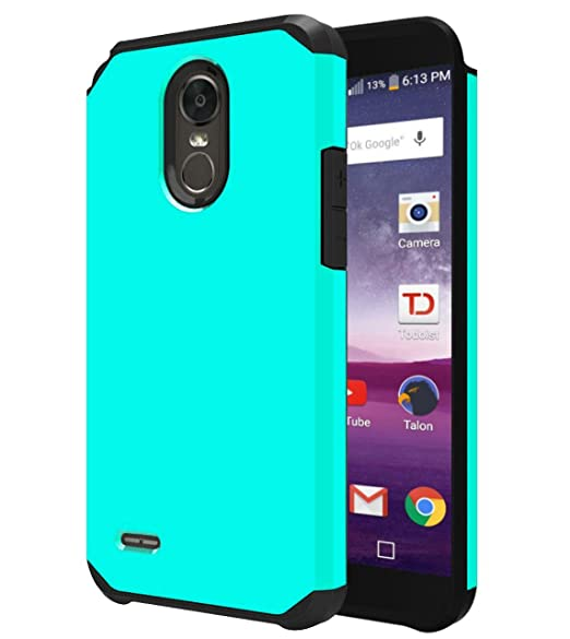 LG Stylo 3 Case, LG Stylo 3 Plus Case, OEAGO Hybrid Shockproof Drop  Protection Impact Rugged Case Armor Cover for LG Stylo 3 / LG Stylo 3 Plus  - Mint