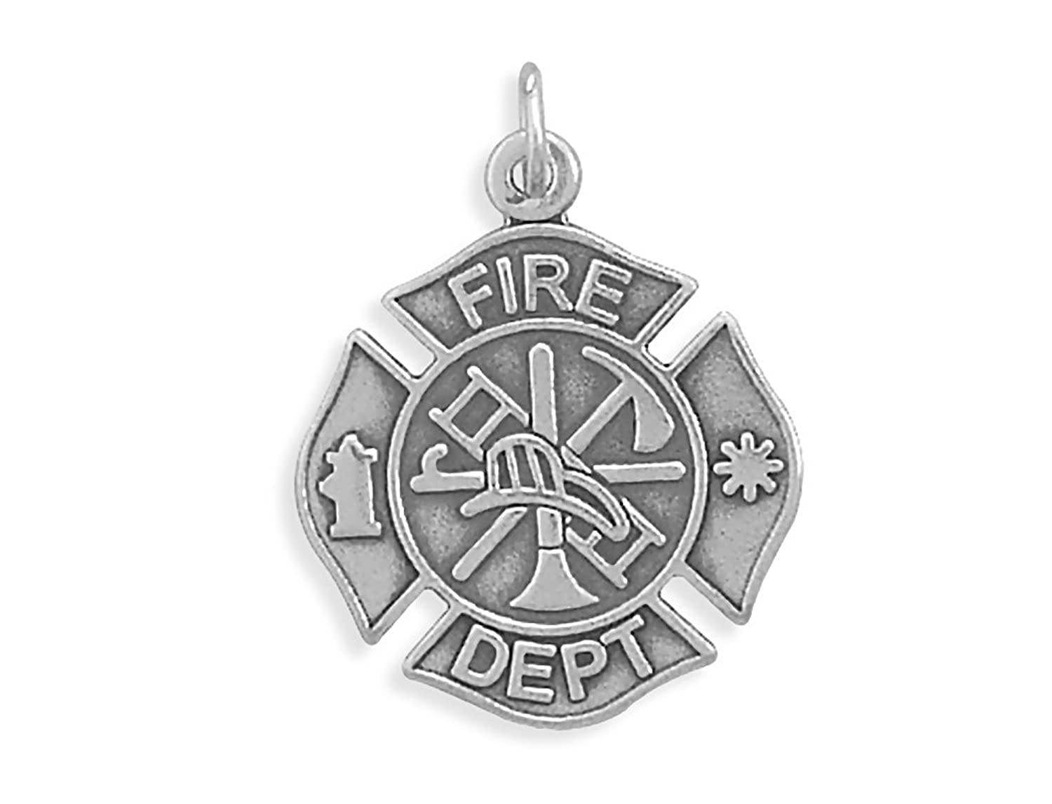 saint sterling jewelry firefighter silver cross florians maltese collections pendant crosses