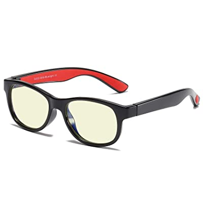 Duco Kids Sports Style Blue Light Blocking Reading Computer Glasses Age 5-12 K015