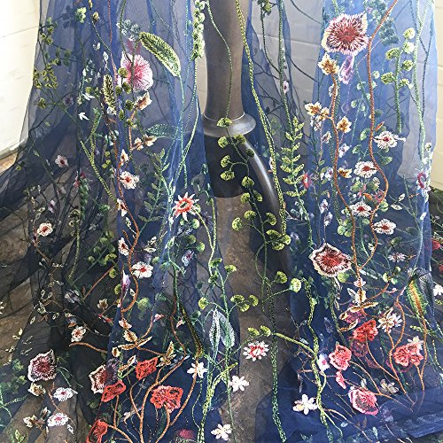 Review Exquisite Embroidered Floral Tulle