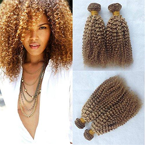 ATOZHair 8A Unprocessed 3 Bundles Curly Wave Color #27 Brazilian Human Hair 50g/Bundle 150 Gram in Total 27 Colour