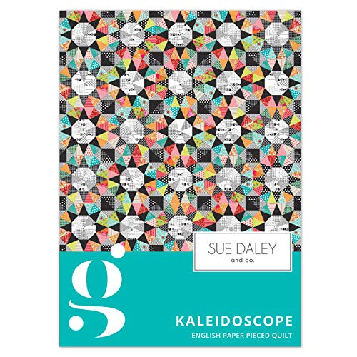 Kaleidoscope Bright Quilt Pattern by Sue Daley & CO EPP English Paper Piecing Patchwork Sewing